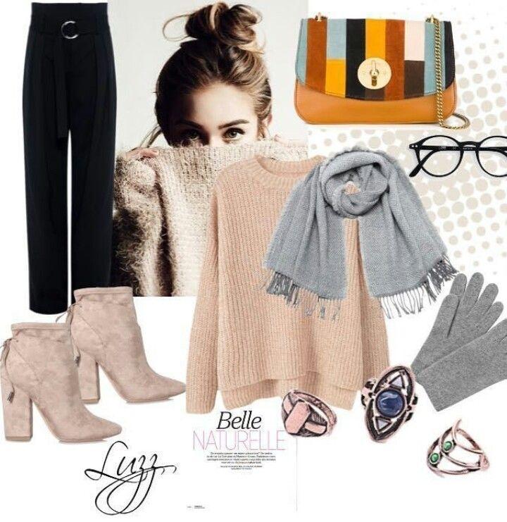 Kış sezonu trendlerinden pudra tonlarında bir triko kazak ve siyah bol paça pantolon kombinini Luzz Accessories'den vintage üçlü yüzük setiyle birleştirdik 🙆 Gri şal ve eldivenlerin eşliği ile sizce de süper olmamış mı? 😍 Biz ba yıl dık 💃 #luzzaccessories #ourrecommedation #whatiwore #fashionaddict #loveit