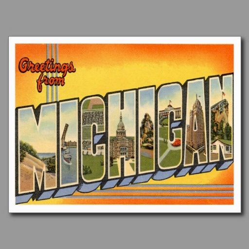 87 best greetings from michigan images on pinterest post cards greetings from michigan mi postcard our retro cards make wonderful invitations and announcements easy m4hsunfo Images