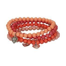 Creamie Armband Roze/Oranje bij Minimoda. #Accessoires #Meisjeskleding #Meisjes #School #Armbanden #Armband #Creamie