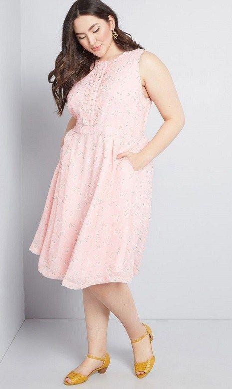 Blush Pink Plus Size Dresses - Soft Pink Plus Size Dresses ...