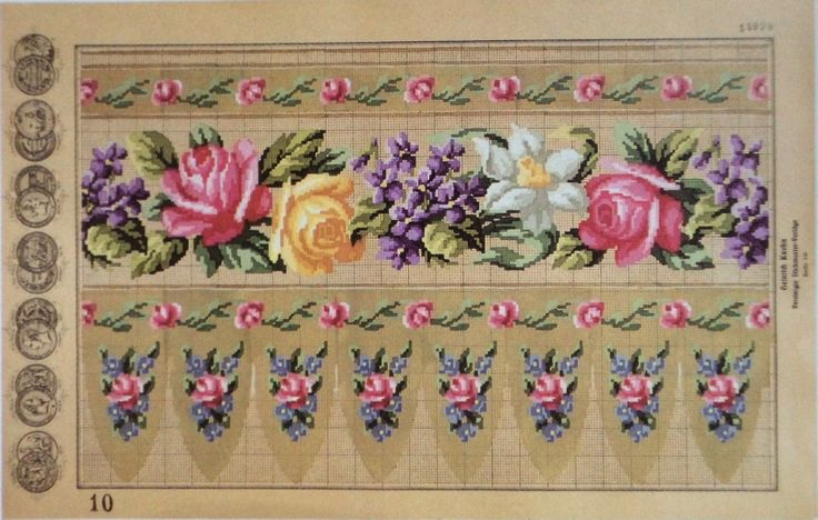 Beautiful Berlin WoolWork Border Patterns By Heinrich Kühn Berlin 1867