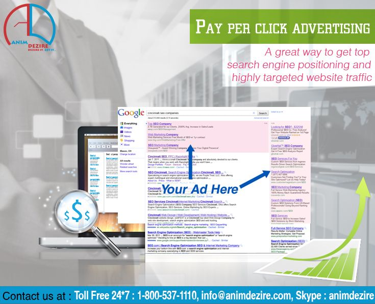 PPC advertising  A great way to get top position in Search Engines