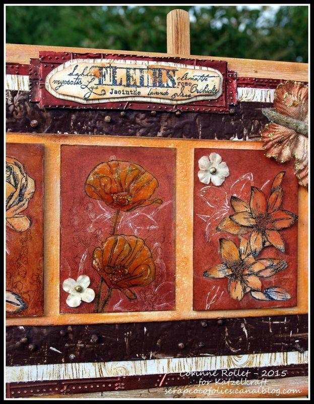 Les folies de Coco... Stamps KTZ133 'Fleurs' and KTZ97 'Bois'