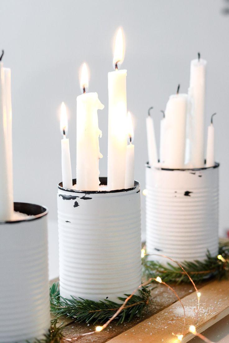 großes rustikales Weihnachtsmittelstück   – Dekoration DIY