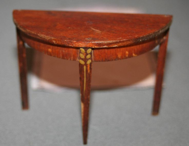 Antique Tynietoy Living Room - Hard to find wood Demilune Table | eBay