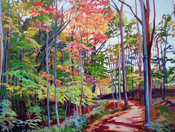 Absolutely Fabulous.  36x48 Acrylic on canvas.  This was painted from a photo taken in Dundas Ontario