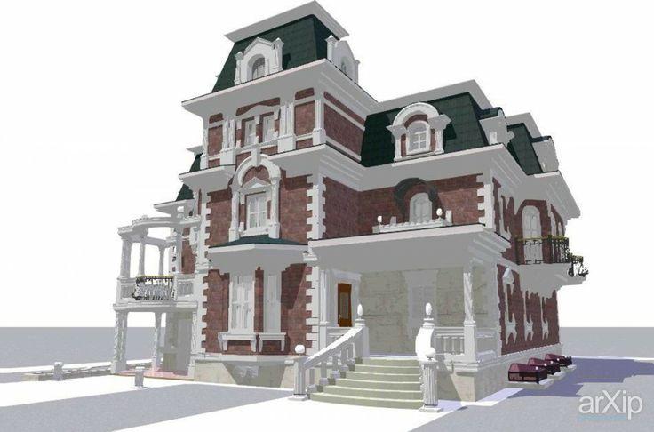 реконструкция фасада: архитектура, жилье, 3 эт   9м, минимализм, 300 - 500 м2, коттедж, особняк, фасад - камень #architecture #housing #3floors_9m #minimalism #300_500m2 #cottage #mansion #facade_stone arXip.com