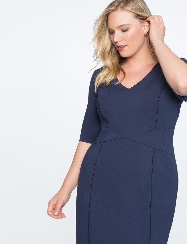 9-to-5 Stretch Work Dress   Women's Plus Size Dresses 4