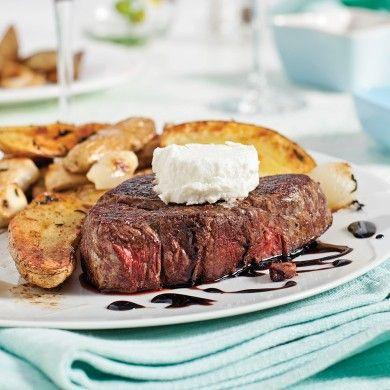 Filets mignons sauce érable-balsamique et fromage de chèvre - Recettes - Cuisine et nutrition - Pratico Pratique