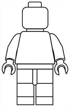 Lego man template.  Let your kids invent their own Lego characters.