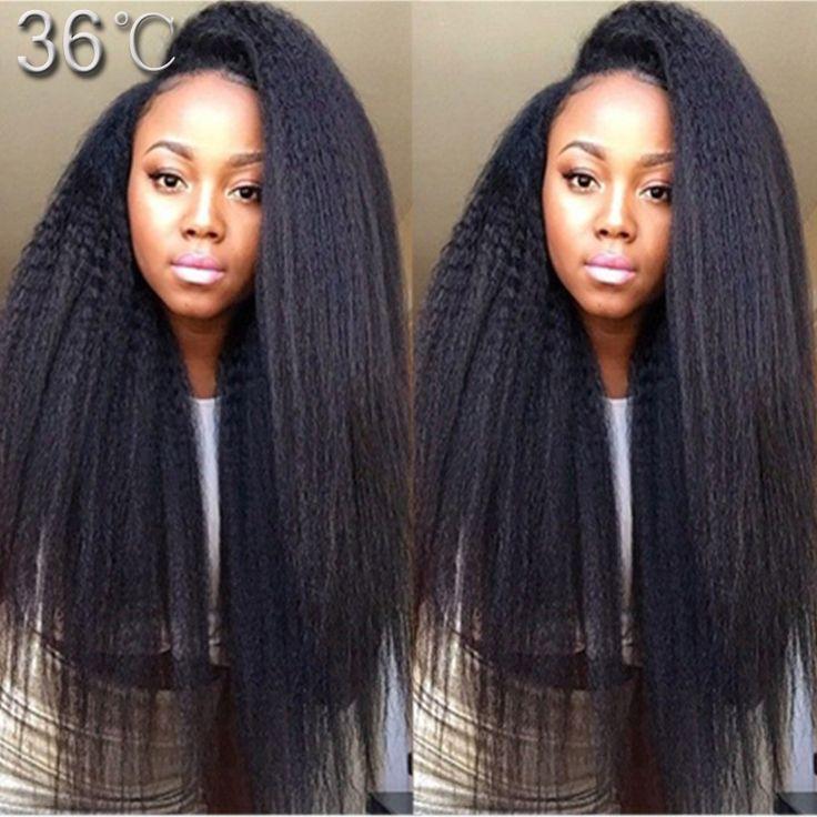 Best Brazilian U Part Kinky Straight Wig 7A Virgin Human Hair Glueless Kinky Straight U Part Wigs For Black Women Natural Color