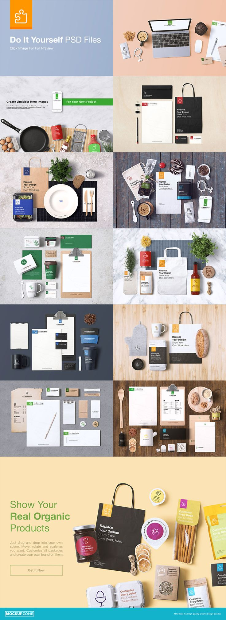 A Comprehensive Coffee Branding And Packages Mock Up From Mockup Zone