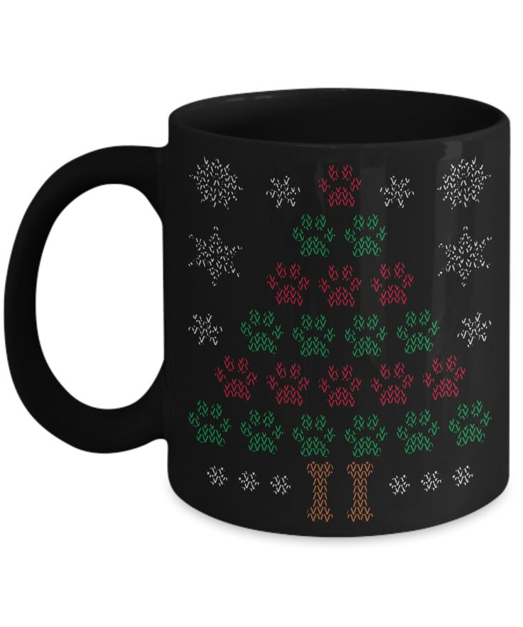 Paw Christmas Tree Mug