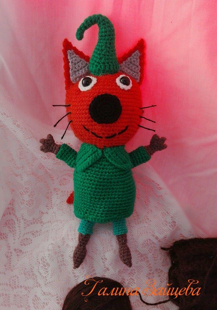 Котик #трикота #кошечки #игрушкидетям #вязаниекрючком