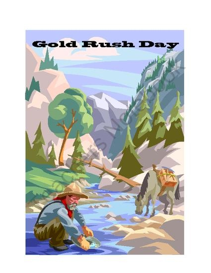 Gold Rush Day! A Gold Rush Simulation from Creative Teaching - Engaging Activities for Upper Grades on TeachersNotebook.com (25 pages)  - 4th Grade California Gold Rush Simulation