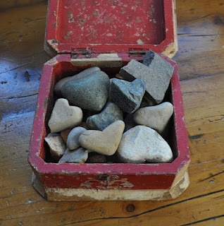 collection of heart rocks