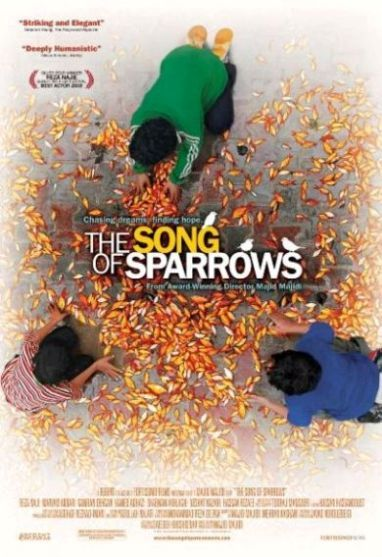 The Song of Sparrows (Avaze gonjeshk-ha) (Persian: آواز گنجشکها ) is a 2008 Iranian movie directed by Majid Majidi. It tells the story of Karim, a man who works at an ostrich farm until he is fired because one of the ostriches fled. He finds a new job in Tehran, but he faces new problems in his personal life.