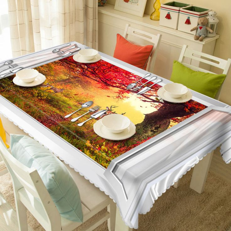 Fudiya 3D Table Cover High Quality Polyster Tablecloth Decorative Printed Scenery Manteles Para Mesa Rectangulares  #Affiliate