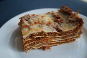 Lasagne med masser af grøntsager og inspireret af det ægte italienske :)