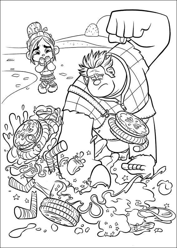 Desenhos para colorir para crianças. Desenhos para imprimir e colorir Detona Ralph 38