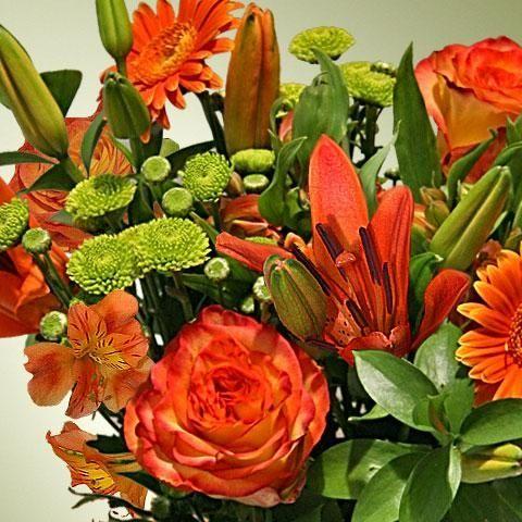 43 mejores im genes sobre flores naranjas en pinterest azul naranja hijos y heno - Fotos de ramos de flores preciosas ...