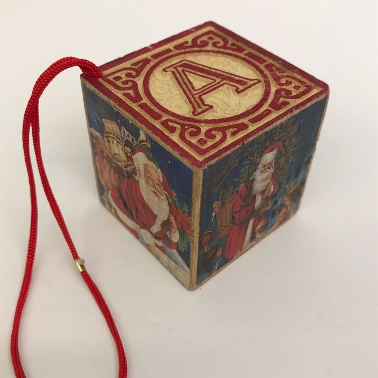 Wooden Christmas Ornaments ABC Toy Block with Santa Claus Tree Decoration #Unbranded