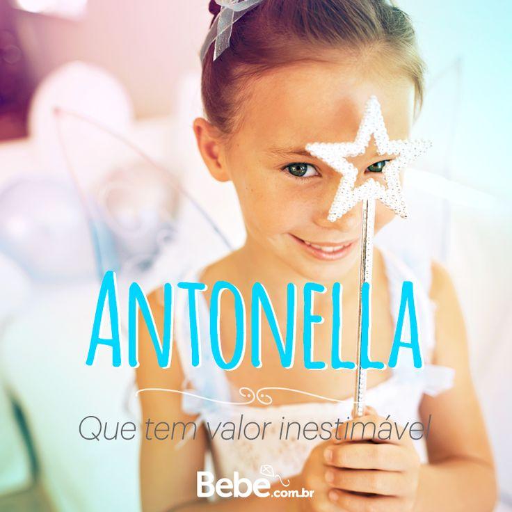 Quem aí tem uma #Antonella em casa ou na barriga? No nosso site você encontra mais curiosidades desse e de muuuitos outros nomes lindos! #NomesSignificados #SiteBebê #NomesdeBebês #EscolhaDoNome