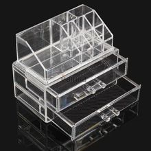 Acrylic Cosmetic Organizer Drawer Makeup Case Storage Insert Holder Box DHL EMS FeDex Free shipping Mail NG4S(China (Mainland))