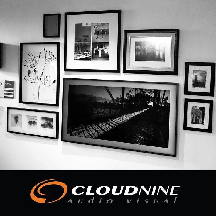Can you spot the TV? . . . #frametv #samsungframe #designinspiration  #interiordesign  #smarthome  #audiovisual  #cloud9 #cloud9av #c9av
