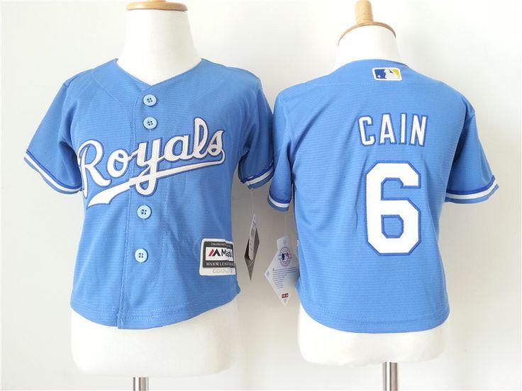Infant MLB Kansas City Royals #6 Lorenzo Cain Jerseys