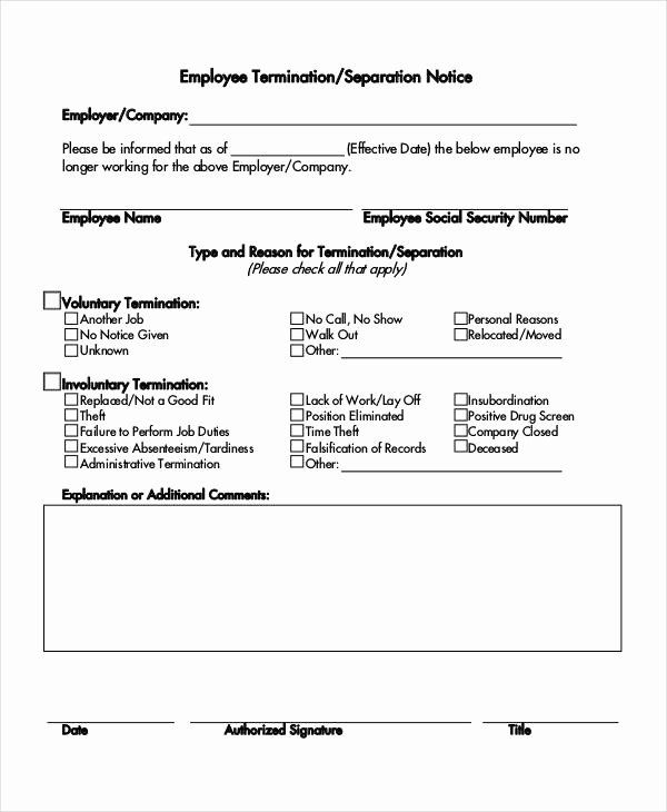 Employee Separation Form Template Beautiful 14 Separation Notice Templates Google Docs Ms Word Employee Handbook Template Notice Template Lettering