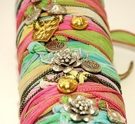 Ribbon bracelets.. DIY. Love these!!
