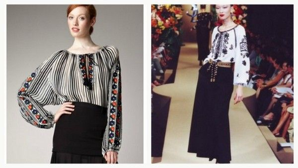 Jean Paul Gautier & Yves Saint Laurent's interpretation on traditional Romanian blouse