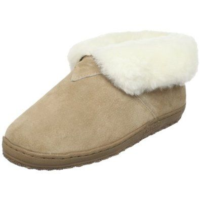 Old Friend Women's Wide Faux Shearling Bootee,Chestnut White,8 2E US Old Friend. $52.95