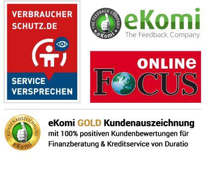 Duratio ist eines der bestbewertesten Kreditvergleichsportale in Deutschland und bereits durch viele renommierte Medienportale bekannt.  https://www.duratio.de/unternehmen/kundenbewertung