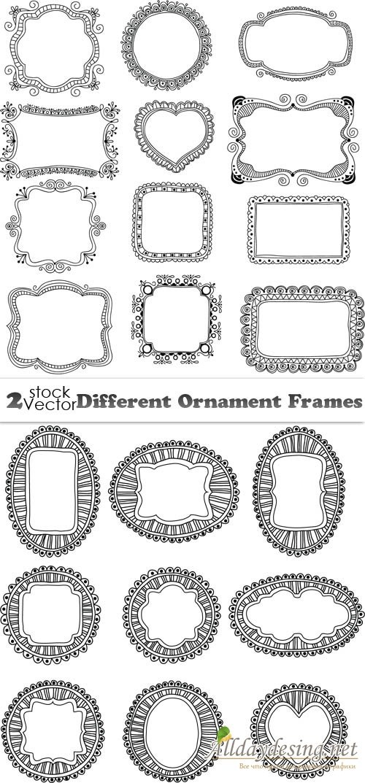 Декоративные рамки с орнаментом - вектор