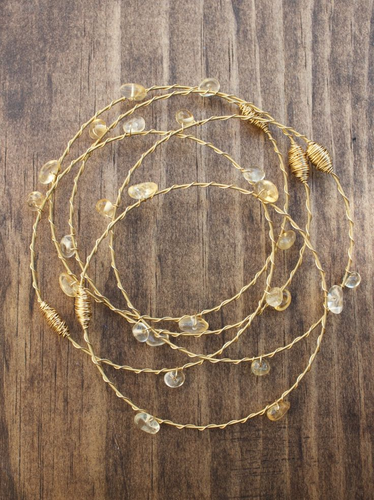 Recycled Guitar String, Citrine 3-pc Bangle Set or Choose Your Own Stone- Made in NOLA, Support New Orleans Musicians! Guitar String Jewelry