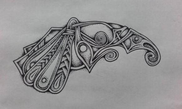 Dotwork Viking Crow by apocalypticviolin