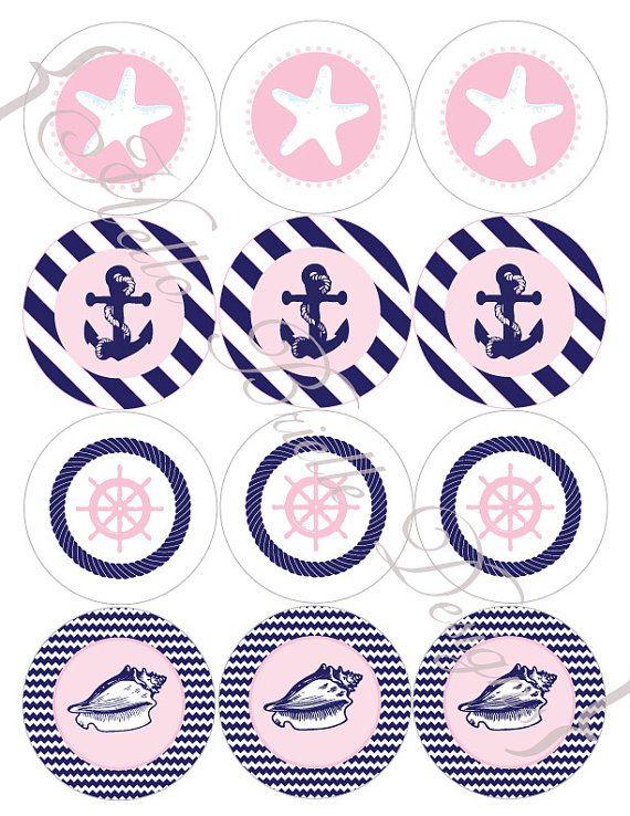 pink + navy nautical theme?
