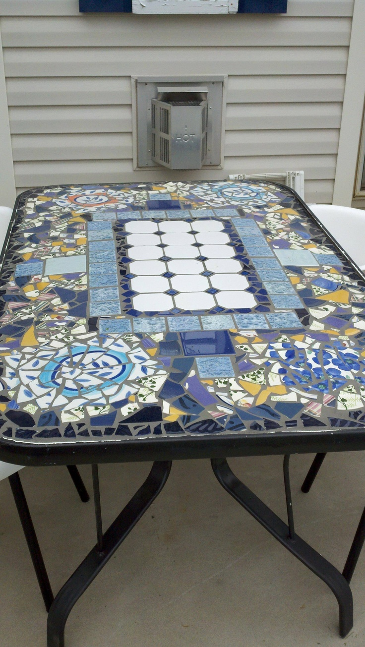 78 best images about crafts furniture ideas on pinterest mosaic tiles large coffee tables - Basics mosaic tiles patios ...