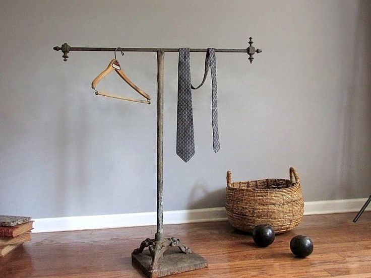 Victorian Industrial Clothing Rack. by owlsongvintage on Etsy https://www.etsy.com/listing/200871797/victorian-industrial-clothing-rack