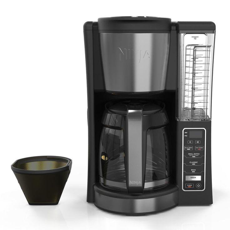 Ninja 12cup programmable black drip coffee maker with