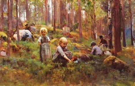 Eero Järnefelt (Finnish artist, 1863-1937) Kotimatkalla, 1903