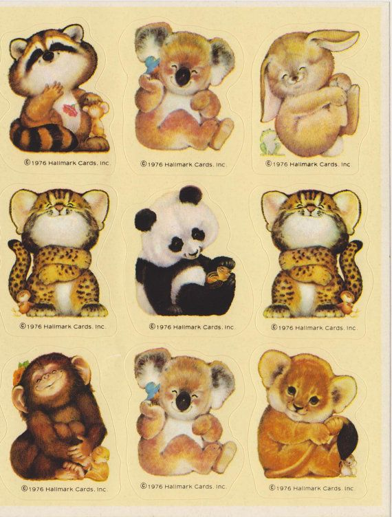 Vintage 1976 Critter Sitters Sticker sheet by by STICKERPLANET, $10.00