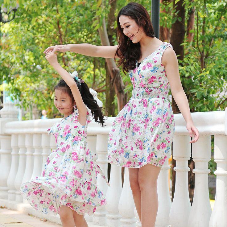 vestidos florales-madre e hija