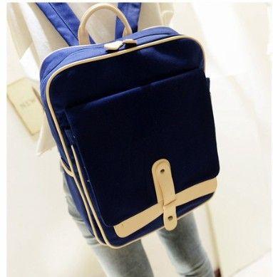 2014 cross bag backpack school bag student bag preppy style canvas bag