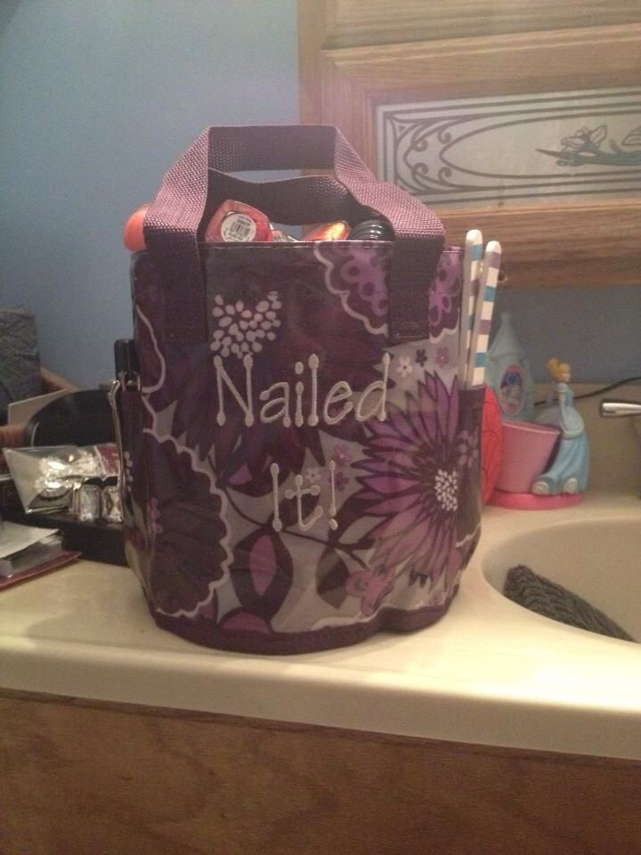 Nailed-it!  Thirty-One new caddy Shower caddy with mesh bottom, mildew resistant.... Or your new awesome nail caddy! Uses are unlimited!!! www.mythirtyone.com/adellejohnson