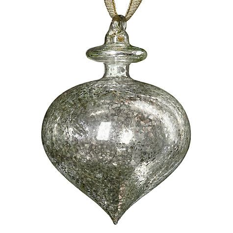 25 best mercury glass christmas decorations and ornaments John lewis christmas ornaments