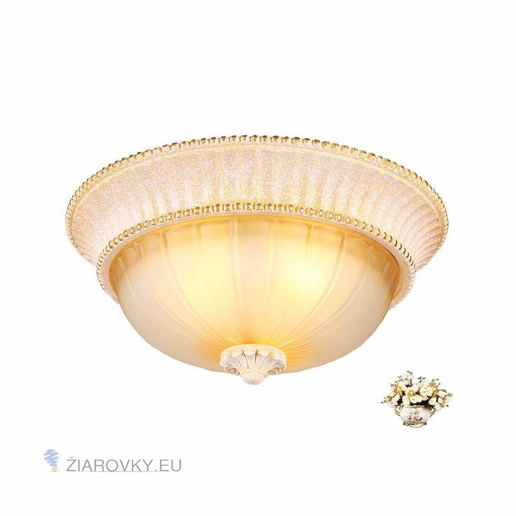 Luxusné stropné svietidlo Pologuľa s ručnou maľbou (4)