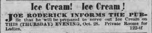 https://flic.kr/p/E2NSdu   Earlier ice cream in Hawaii 3   While the reference book First and Almost Firsts in Hawaii reported that the first ice cream in Hawaii appeared in 1870, this ad ran in newspapers in 1858.  Pacific commercial advertiser, December 9, 1858, Image 3 chroniclingamerica.loc.gov/lccn/sn82015418/1858-12-09/ed-...  Hawaii Digital Newspaper Project hdnpblog.wordpress.com/
